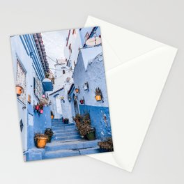 Chefchaouen steps Stationery Cards