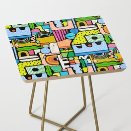 Color Block Collage Side Table