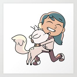 Hilda and Twig Art Print