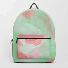 Coral Mint Abstract Backpack