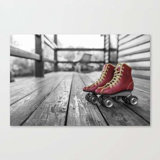 roller noir blanc rouge Canvas Print