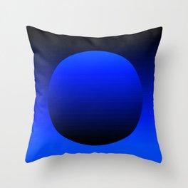 Blue grocery bag Throw Pillow