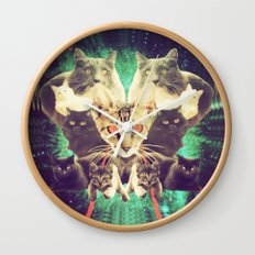 Galactic Cats Saga 1 Wall Clock