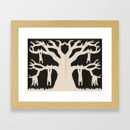 The Old Oak Tree Framed Art Print