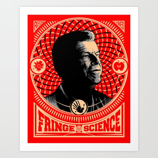 Walter Bishop - Fringe Science (RED) Art Print