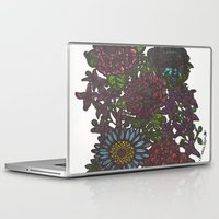 lydia martin Laptop & iPad Skins featuring Lydia Flowers by Eye Got Sol