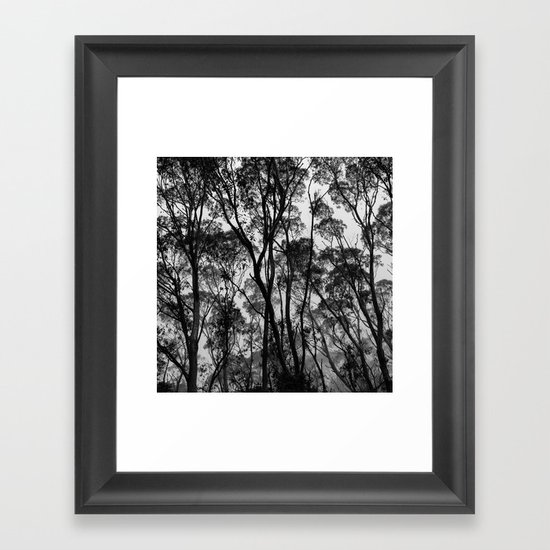 Forest Silhouette Framed Art Print