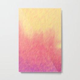 Coral Peach Sunset Clouds Metal Print