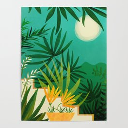 Exotic Garden Nightscape / Tropical Night Series #2 Poster