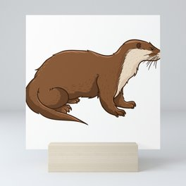 Cute Otter Mini Art Print