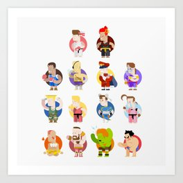 Street fighter characters Art Print