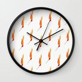 Matchsticks Afire Wall Clock