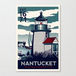 NANTUCKET MASSACHUSETTS LIGHTHOUSE PRINT Canvas Print