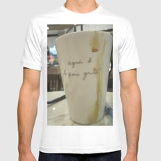 A Cuppa Mens Fitted Tee MEDIUM White