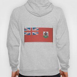 Flag of Bermuda. The slit in the paper with shadows. Hoody