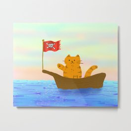 Captain Marmalade Metal Print