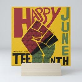 Happy Juneteenth Mini Art Print