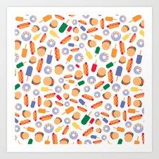 BP 70 Fast Food Art Print
