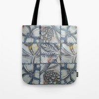 college Tote Bags featuring COLLEGE PATTERN by AlanaHayley