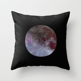Lonely planet - Space themed geometric painting Throw Pillow