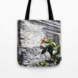 Touch of color in Tulum Tote Bag