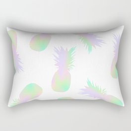 Pineapples Iridescent Holographic Rectangular Pillow