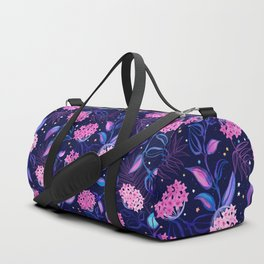 Tropical Midnight with Hoya Blossoms Duffle Bag