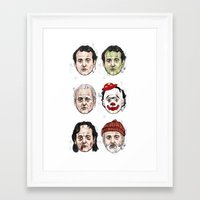 murray Framed Art Prints featuring Murray by Matthew Brazier Illustration