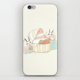 Bunny In Tutu: frozen yoghurt iPhone Skin