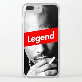 rap hip hop design west side shakur Clear iPhone Case