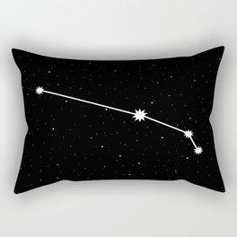 Aries Star Sign Night Sky Rectangular Pillow