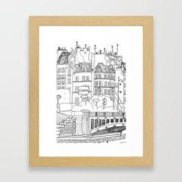 Paris Near Cathedral Notre-Dame Framed Art Print