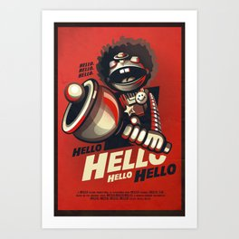 HELLO! HELLO! (red) Art Print