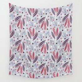 Hedgerow in grey Wall Tapestry