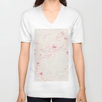 palm V-neck T-shirts featuring Palm by Debbie Chessell