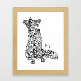 Foxy Framed Art Print