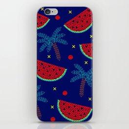 Tropical mosaic design on blue iPhone Skin