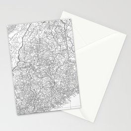 Vintage Map of Maine (1911) Stationery Cards