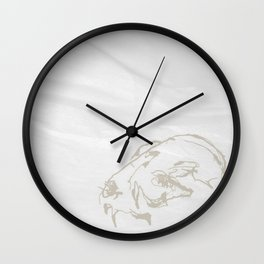 Pale Skull Wall Clock