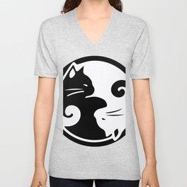yin yang cats Unisex V-Neck