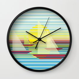 Sailing at sunrise Wall Clock