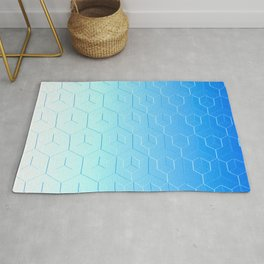 Silver to Blue Gradient Rug