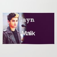 zayn Area & Throw Rugs featuring Zayn Malik by Marianna