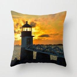 Pumpkin Chiffon Sunset Throw Pillow
