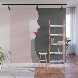 Joni Michell (pop pink & grey) Wall Mural