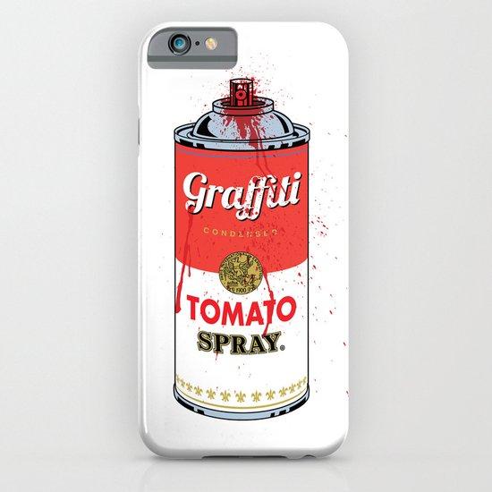 Graffiti Tomato Spray Can iPhone & iPod Case