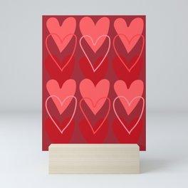 Christmas hearts Mini Art Print