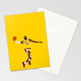 Lebron Dunk Laker James - Basketball Illustration Stationery Cards
