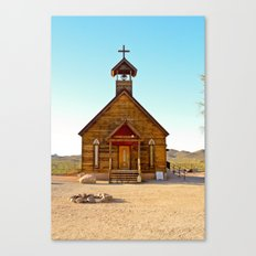 God's Outpost in Cowboy Country Canvas Print