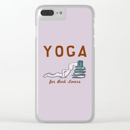 Yoga for Book Lovers Clear iPhone Case